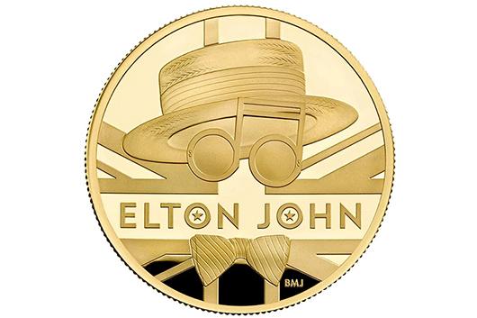 英国王立造幣局がエルトン・ジョンの記念硬貨を発行