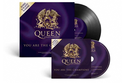 クイーン+アダム・ランバートの「You Are The Champion」、CDと7インチ・シングルで限定発売するも……