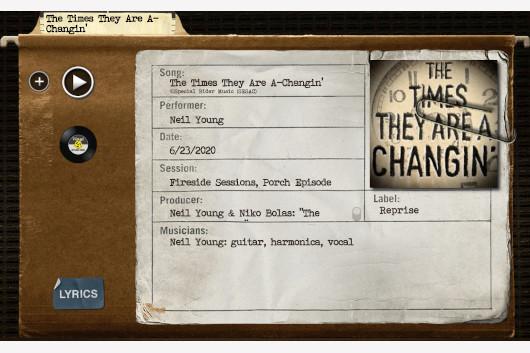 ニール・ヤング、ボブ・ディランのカヴァー「The Times They Are a-Changin'」公開