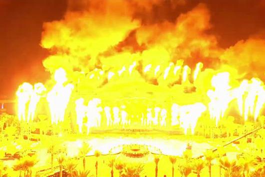 KISS、ドバイでの大晦日コンサートからパイロのハイライト映像公開