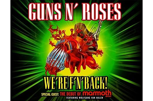 ガンズ・アンド・ローゼズ、ウルフギャング・ヴァン・ヘイレンとのUSツアーを発表