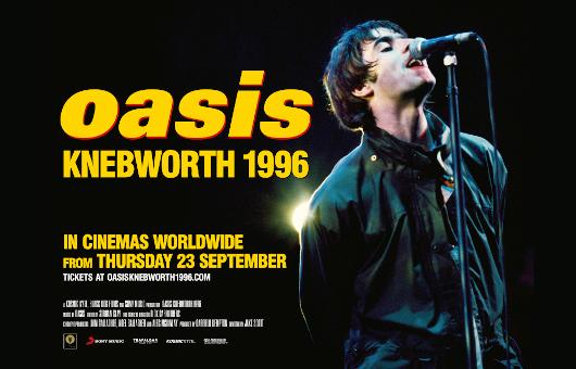 世紀のライヴ・ドキュメンタリー映画『オアシス:ネブワース1996』全世界同日 9/23(木・祝)日本公開決定