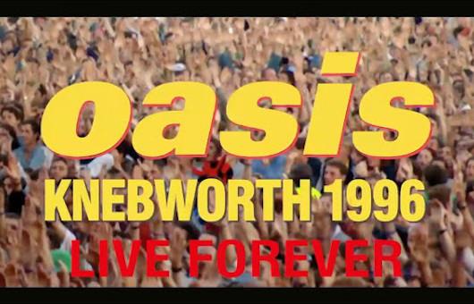 オアシス、ドキュメンタリー映画『ネブワース1996』から「Live Forever」のライヴ映像初公開