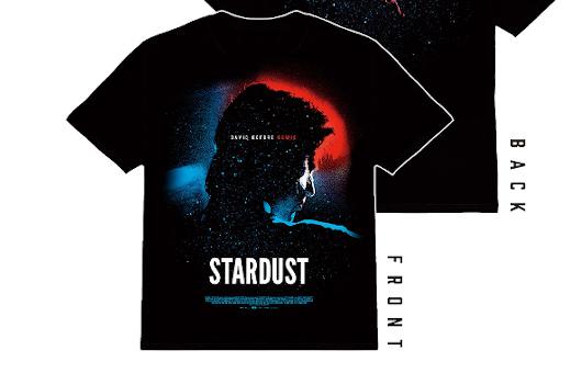 10月8日(金)公開、若き日のデヴィッド・ボウイ映画『スターダスト』公開記念、非売品Tシャツ・プレゼント!