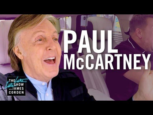ポール・マッカートニーが出演した『Carpool Karaoke』の映像公開