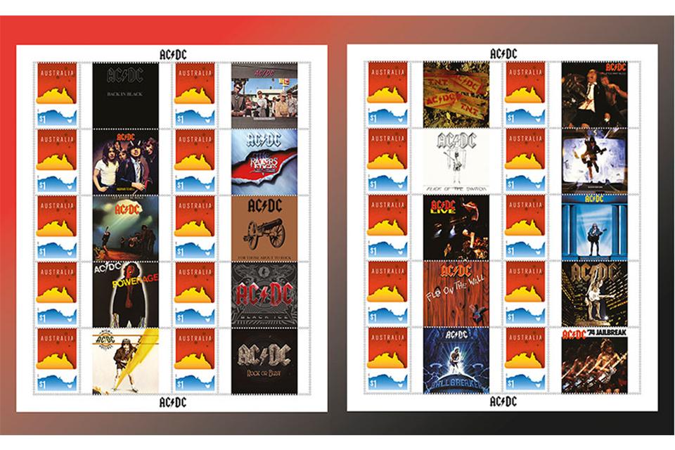 オーストラリア郵便公社発行のAC/DC切手シートが物議を醸す