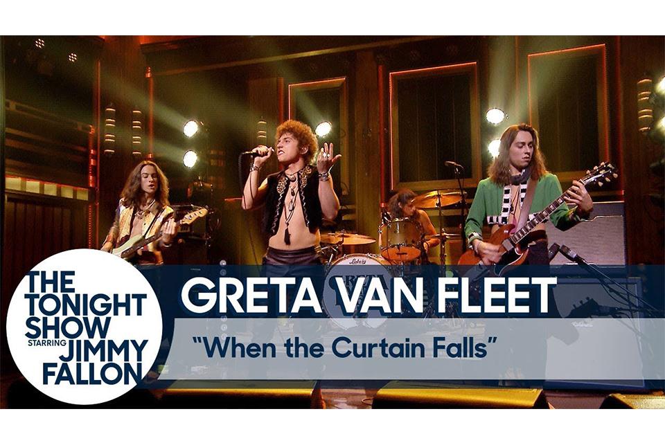 テレビでライヴを披露したグレタ・ヴァン・フリートに拍手喝采