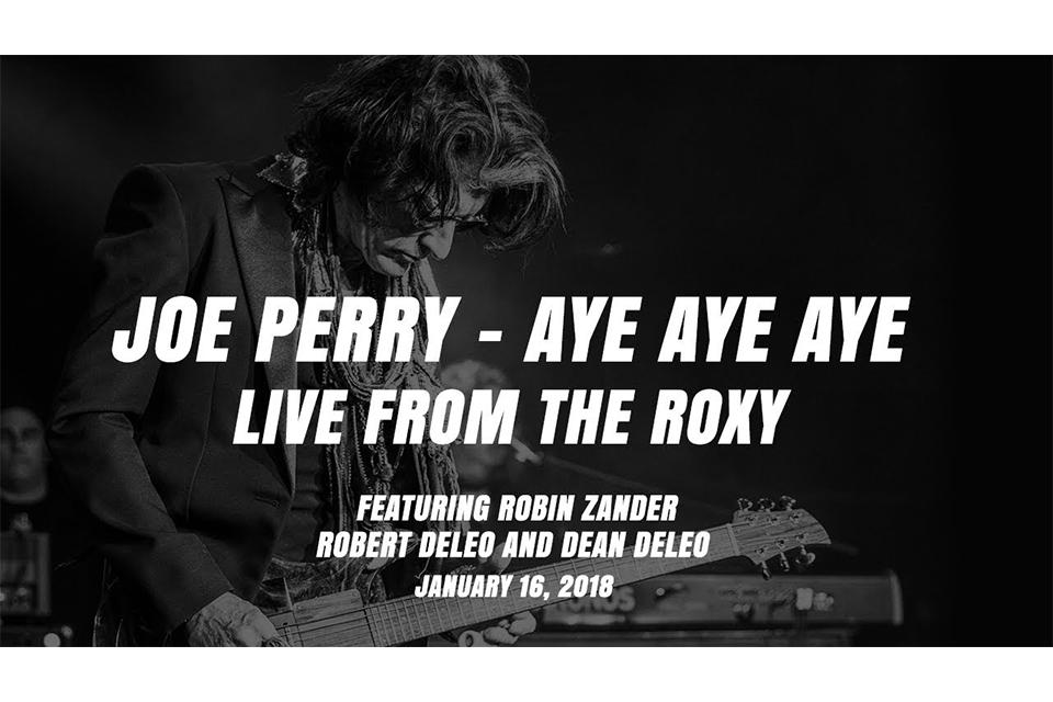 ジョー・ペリーが「Aye Aye Aye」のビデオを公開