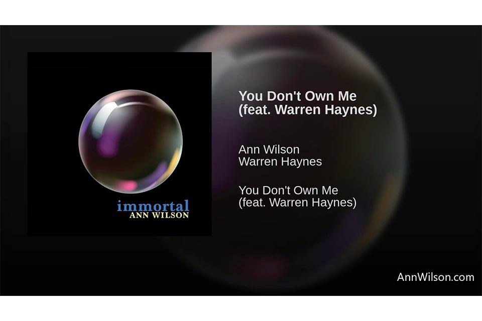 アン・ウィルソンのセカンド・シングル「You Don't Own Me」が試聴可能