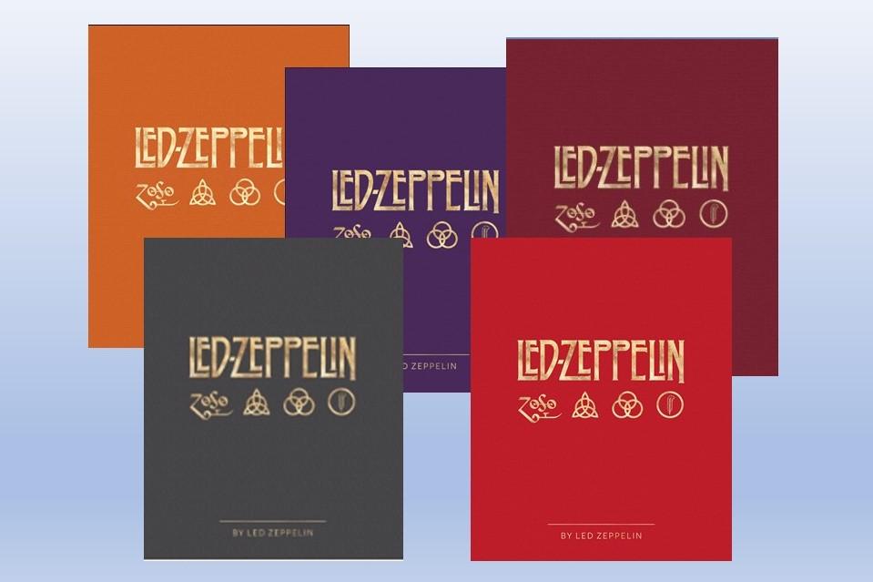 ツェッペリン公式本、各言語の表紙カラーが公開される!