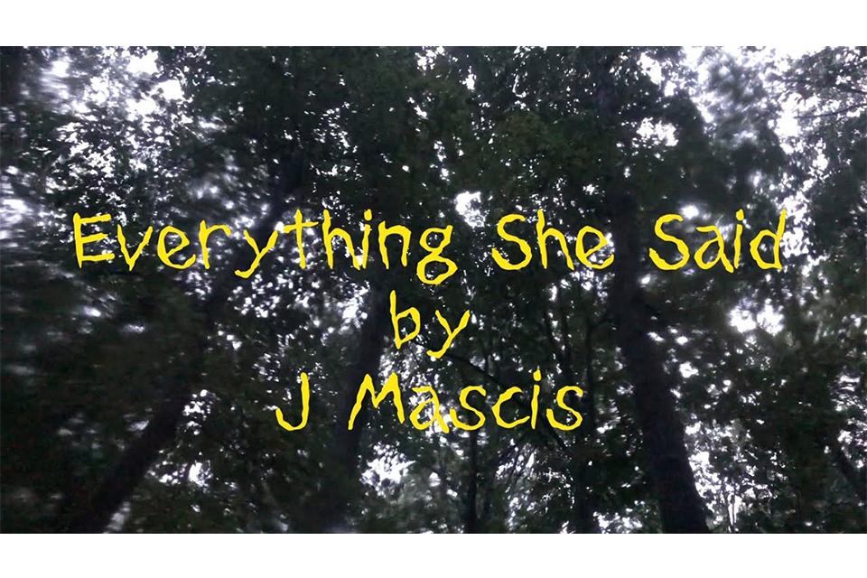 J・マスキス、11月発売のニュー・アルバムより「Everything She Said」を公開