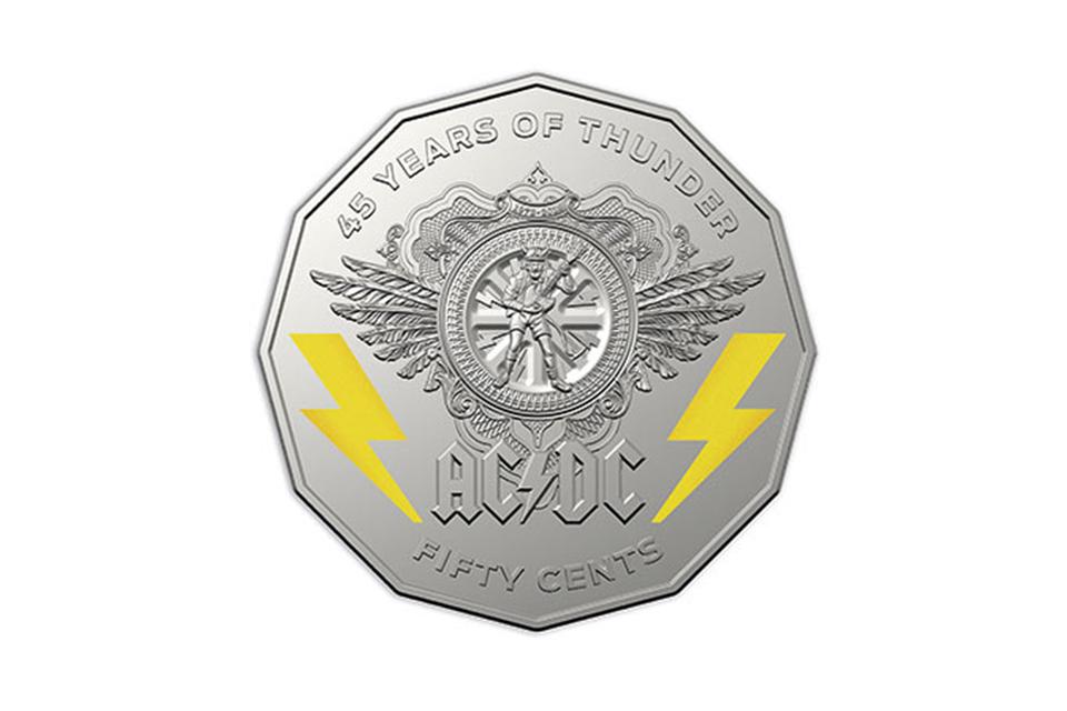 王立オーストラリア造幣局がAC/DCの45周年記念硬貨を発行