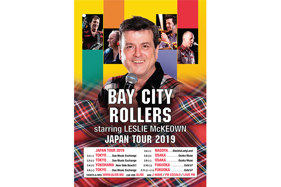 BAY CITY ROLLERS starring LESLIE MCKEOWN JAPAN TOUR 2019
