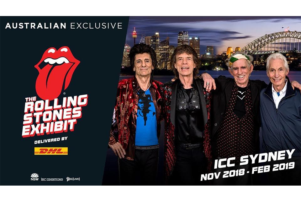 ローリング・ストーンズの大規模展示会が初めてシドニーで開催