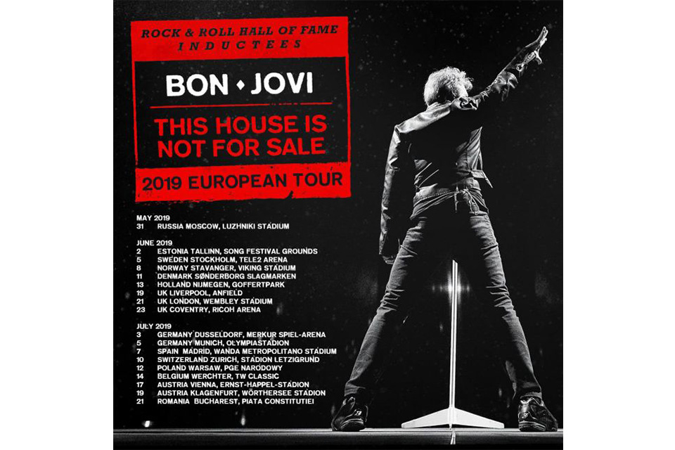 ボン・ジョヴィが2019年のUK/ヨーロッパ・ツアーを発表